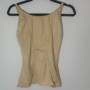 Flexees Beige Shape-wear Compression Tank L